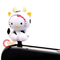 Sanrio Hello Kitty Earphones Headphones Cap Topper : Cow