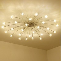 Art Deco Frosted Crystal Home Ceiling Light