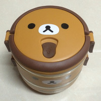 Two Layer Cartoon Portable Stainless Steel Food Storage Box Kids Thermal Insulated Food Container Bento Lunch Box Tableware(152)