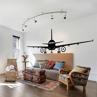 Airplane Wall Decal Jumbo Jet Vinyl Sticker Home Arts Wall Decals Decor WT086