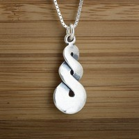 Infinity Pendant - STERLING SILVER - Double Sided