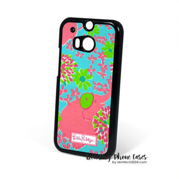 Baby Elephant - Lilly Pulitzer HTC One M8 Case Cover for M9 M8 One X Case