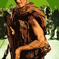 The Walking Dead Daryl Dixon Pop Art Poster 11 x 17