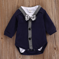Newborn Baby Boy Girl Clothes Cardigans Sweatshirt Coat Bodysuits Long Sleeve Cotton Jumpsuit Outfits Clothing 0-18M