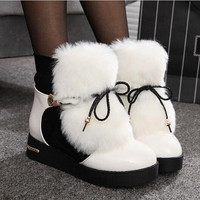 Free shipping plus size36-40 fashion elegant lady's short boots winter warm fur charming warm snow boots women winter shoes