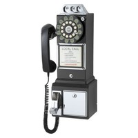 Crosley 1950s Classic Pay Phone - Black
