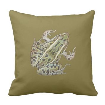 True Frog Throw Pillow