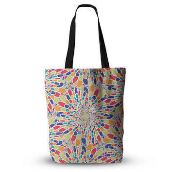 "Miranda Mol ""Flourishing Blue"" Multicolor Geometric Everything Tote Bag"