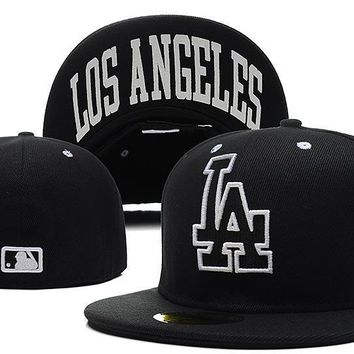PEAPON Los Angeles Dodgers New Era MLB Authentic Collection 59FIFTY Cap Black LA