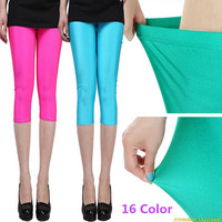 Spring Summer Solid candy Neon leggings