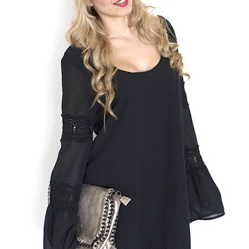 Lace Detailed Bell Sleeve Dress (more colors)