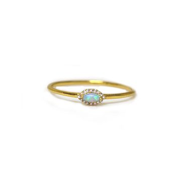 Mini Blue Opal Eye Ring