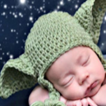 Yoda Baby Prop Knit Hat (Perfect for any Star Wars Fan) - CCC109