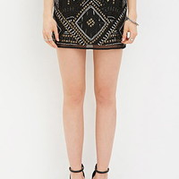 Rhinestone Geo-Patterned Skirt