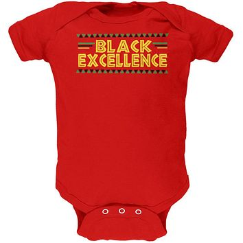Black History Month Excellence Pan African Colors Soft Baby One Piece