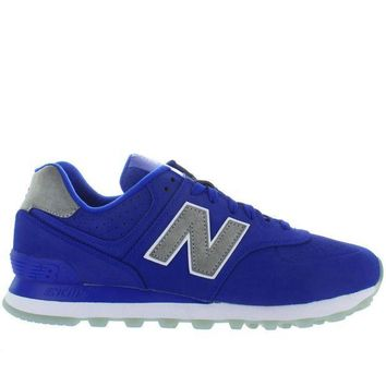 ICIKGQ8 new balance 574 royal blue suede classic running sneaker