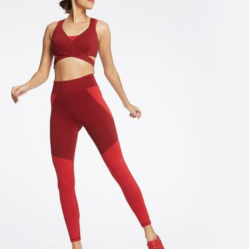 Michi Tidal Legging - Earth Red/Fire Red