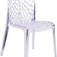 Vision Series Transparent Clear Stacking Side Chair