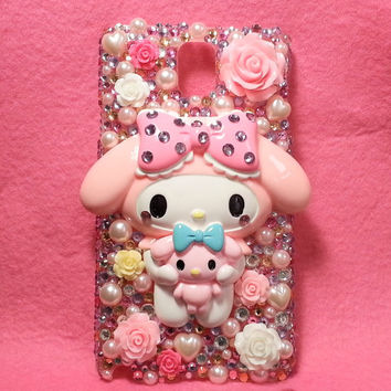 3D Kawaii My Melody Bling Bling Phone Case for Samsung Galaxy Note 3