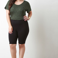 Knee Length Legging Shorts
