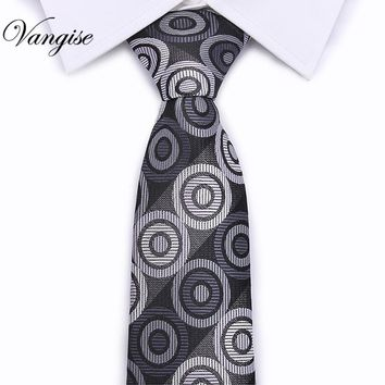 New Casual fashion new Men's tie Paisley silk  Necktie 5cm width Skinny Narrow Neck ties for Party Red Pink black 30 colors