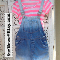 90's GAP Short Overalls Shortalls  Size XS Festival Style Dungarees Dip Dyed Frayed Bleached Farmers Bib /Suznews Etsy Store/
