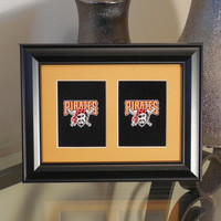 Pittsburgh Pirates 5x7 No Exposure Authentic Playing Card Display Matted FRAMED NF2313