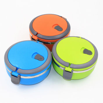 1Pcs one Layer Thermal Bento Box Thermos For Baby Food Stainless Steel Insulation Storage food Container Dinnerware sets 0.7L