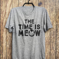 The Time Is MEOW Kitten Cat T-Shirt