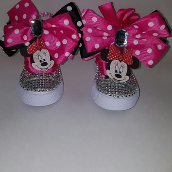 MINNIE MOUSE Birthday Shoe (CONVERSE) Polka Dots