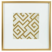 Gold & White Geometric Square Framed Wall Art | Shop Hobby Lobby