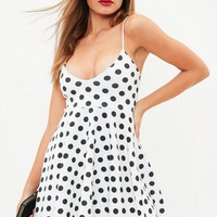 Missguided - White Scuba Skater Dress