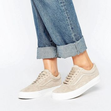 Vans Premium Suede Old Skool Sneakers In Beige at asos.com