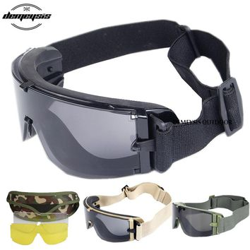 Airsoft Glasses Army Military Tactical Goggles Comfortable Outdoor Eye Protective Safety Tactical Glasses Outdoor Hiking Glasses