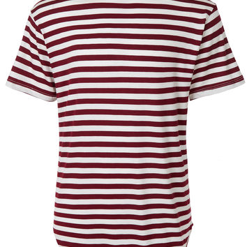 LE3NO Mens Striped Hipster Longline Crew Neck Short Sleeve T Shirt