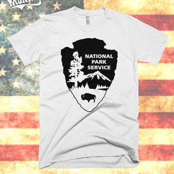 National Park Service t shirt - U.S. National Parks tee, National Park Service Arrowhead, NPS shirt, Camping, tri blend tee, Cotton, Unisex