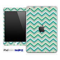 Subtle Green Chevron Pattern Skin for the iPad Mini or Other iPad Versions