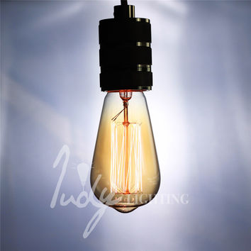 Judy Lighting - Classic Vintage Edison Filament Bulb Dimmable Edison Amber Glass Bulb E27 40W For Pendant Lamps
