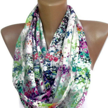 Infinity Scarf Mixed  colorful women scarves , cute scarf , chiffon fabric , for her