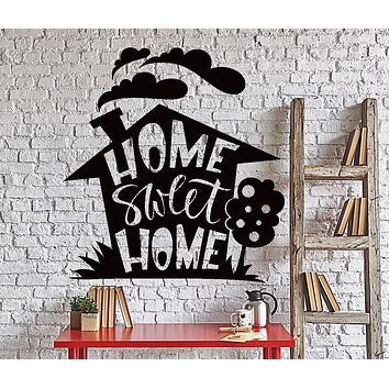 Wall Vinyl Decal Home Sweet Home Living Room Quote Words Home Decor Unique Gift z4386