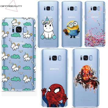 Deadpool Dead pool Taco DIFFRBEAUTY Fashion  Unicorn Minions Ironman Soft Back Phone Case Cover for Samsung Galaxy S8 6 4 5 7 Edge J5 7 Coque AT_70_6