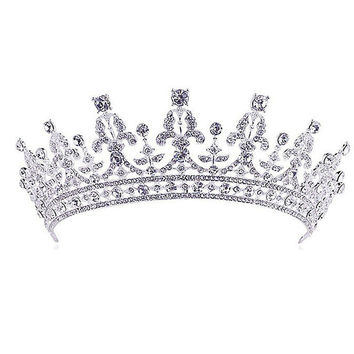 Luxury Wedding Bridal Crystal Tiara Crowns Princess Queen Pageant Prom Rhinestone Veil Tiara Headband Wedding Hair Accessory