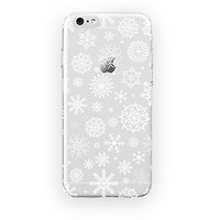 MFVN iPhone 5/iPhone 5S Protective Case-Snowflakes A Classical Christmas Pattern Case-Snowflakes Are Falling Hard Plastic Clear Case Silicone Skin Cover
