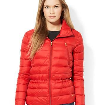 Lauren Ralph Lauren Petite Full-Zip Quilted Down Jacket