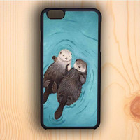 Dream colorful Otterly Romantic Otters Holding Hands iPhone 6 Case