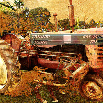 Tractor wall art, farm wall art, modern rustic wall art, 11x14 photo print, country wall art, living room wall art, wall picture, home decor