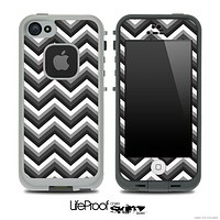 Black and White Chevron V4 Skin for the iPhone 5 or 4/4s LifeProof Case