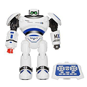 RC Robot,REALACC R1 Robot AD Police Files Programmable Combat Defender Intelligent RC Robot Remote Control Toy for Child