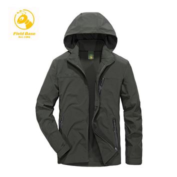 Field Base Autumn Men's Casual Jacket Man's Army Windbreaker Waterproof Fashion Coats Male Jacket Breathable Windproof Overcoat