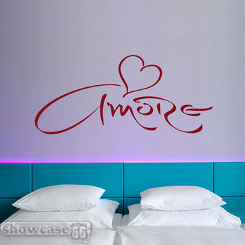 Amore - Vinyl Wall Art - FREE Shipping - Romantic Wall Decal